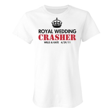 Royal Wedding Crasher Junior Fit Bella Sheer Longer Length Rib Tee