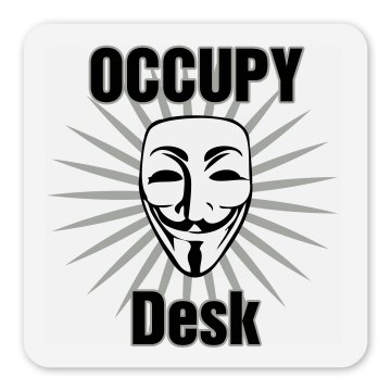 Occupy Desk Square Magnet