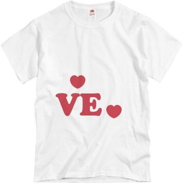 In Love Hearts Unisex Basic Gildan Heavy Cotton Crew Neck Tee
