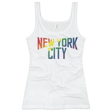 New York Gay Marriage Junior Fit Bella Slit V-Neck Tee