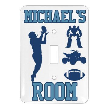 Michael's Room Plate Single Light Switch Cover