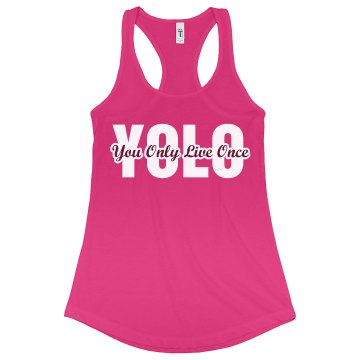 Big YOLO Junior Fit Bella Sheer Longer Length Rib Racerback Tank Top