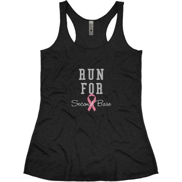 Breast Cancer Rhinestone Junior Fit Bella Triblend Racerback Tank