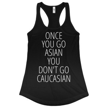 Once You Go Asian Junior Fit Bella Sheer Longer Length Rib Racerback Tank Top