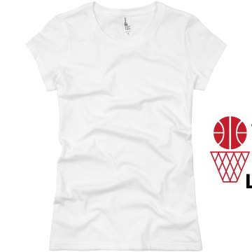Vintage Asian Basketball Junior Fit Basic Bella Favorite Tee