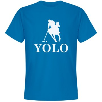 YOLO Polo Unisex Gildan Heavy Cotton Crew Neck Tee