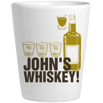 John's Shot Glass Ceramic Shotglass