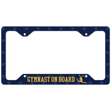 Gymnast On Board License Plate Cover