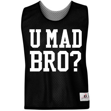 U MAD BRO Badger Sport Lacrosse Reversible Practice Pinnie