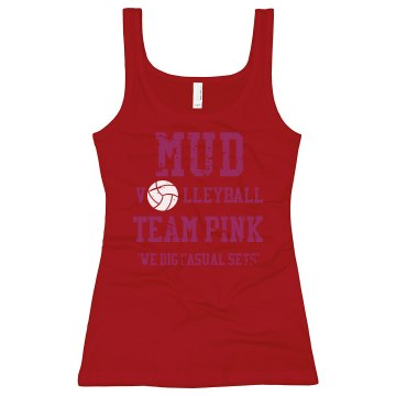Mud Volleyball Junior Fit Bella Longer Length 1x1 Rib Tank Top