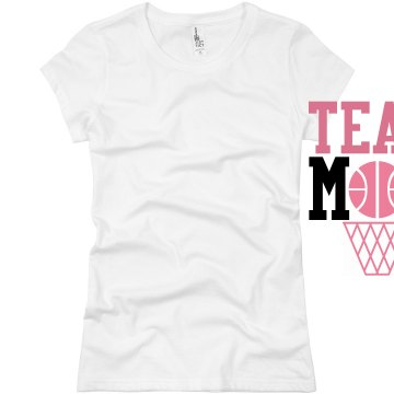 Team Basketball Mom Junior Fit Basic Bella Favorite Tee