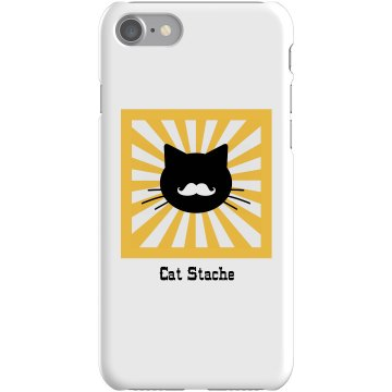 Cat Stache iPhone Case Plastic iPhone 5 Case White 