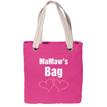 MaMaw's Bag Port Authority Color Canvas Tote