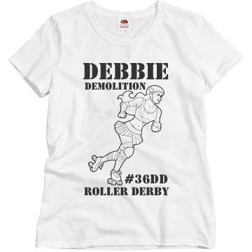 Roller Derby Demo Girl Misses Relaxed Fit Basic Gildan Ultra Cotton Tee