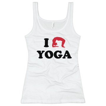 I Love Yoga Junior Fit Bella Longer Length 1x1 Rib Tank Top