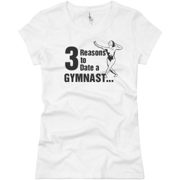 Reasons to Date Gymnasts Junior Fit Bella Sheer Longer Length Rib Tee