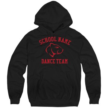 Dance Team Sweatshirt Unisex Hanes Ultimate Cotton Heavyweight Hoodie