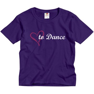 Love To Dance Youth Gildan Ultra Cotton Crew Neck Tee