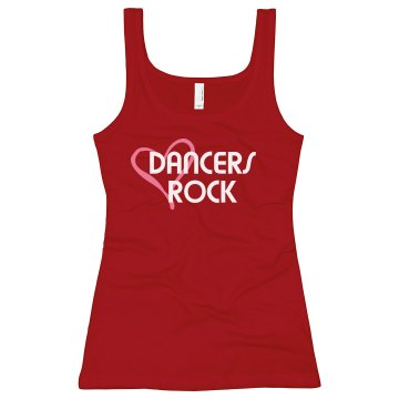 Dancers Rock Junior Fit Bella Longer Length 1x1 Rib Tank Top