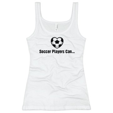 Soccer Players... Junior Fit Bella Sheer Longer Length Rib Racerback Tank Top
