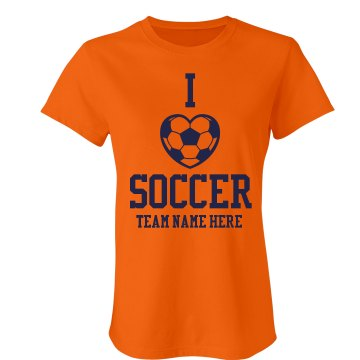 Love Soccer Junior Fit Bella Crewneck Jersey Tee
