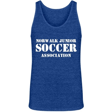 Soccer Association w/Back Junior Fit Bella 1x1 Rib V-Neck Tee