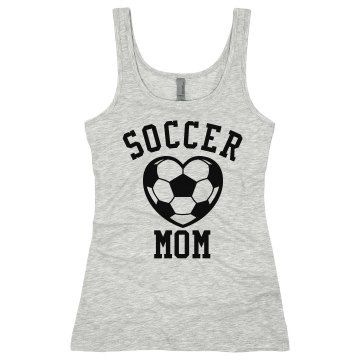 Soccer Mom Tank Junior Fit Bella Sheer Longer Length Rib Tank Top