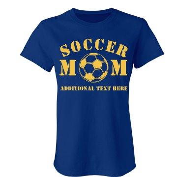 Soccer Mom Junior Fit Bella Sheer Longer Length Rib Tee