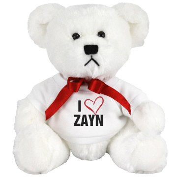I Heart Zayn Medium Plush Teddy Bear
