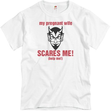 Pregnant Wife Scares Me Unisex Basic Gildan Heavy Cotton Crew Neck Tee
