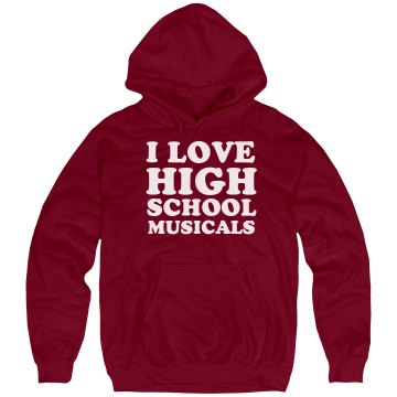 I Love Musicals Unisex Hanes Ultimate Cotton Heavyweight Hoodie