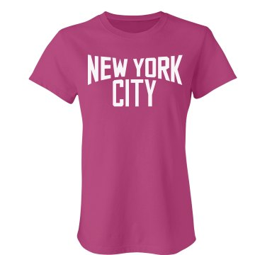 New York Logo Jersey Junior Fit American Apparel Fine Jersey Tee