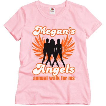 Megan&#x27;s Angels MS Walk Misses Relaxed Fit Gildan Ultra Cotton Tee