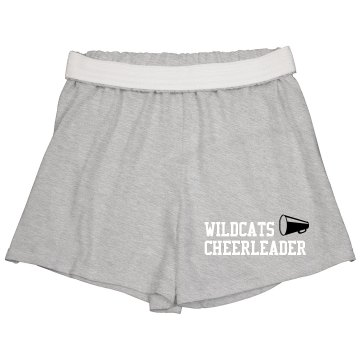 Wildcats Cheerleader Junior Fit Soffe Cheer Shorts