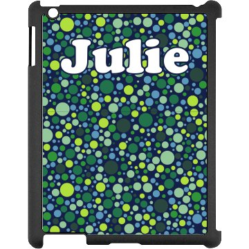Green Dots iPad Case Black iPad Snap-on Case