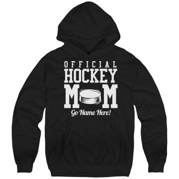 Official Hockey Mom Hood Unisex Hanes Ultimate Cotton Heavyweight Hoodie