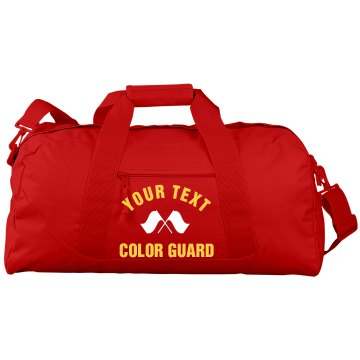 South HS Color Guard Port &amp; Company Large Square Duffel Bag