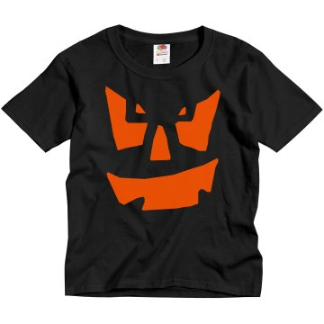 Youth Pumpkin Youth Gildan Ultra Cotton Crew Neck Tee