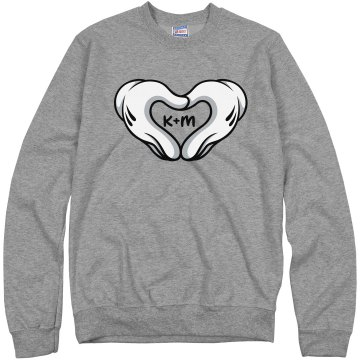 Love Hands Boy Unisex Hanes Crew Neck Sweatshirt