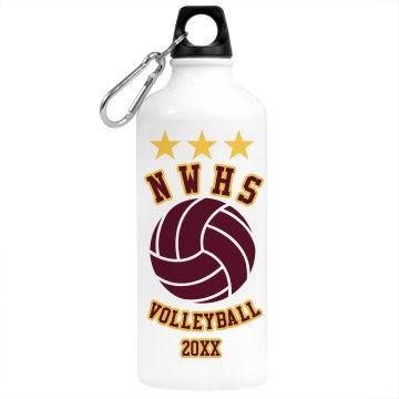 Volleyball Stars Bottle Aluminum Water Bottle