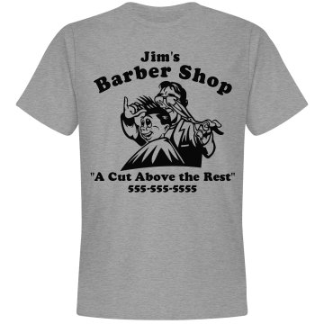 Barber Shop Cut Above Unisex Gildan Heavy Cotton Crew Neck Tee