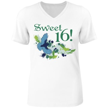 Sweet 16 Misses Relaxed Fit Anvil V-Neck Tee