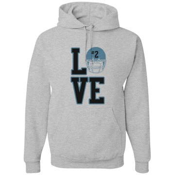 Love Football Unisex Gildan Heavy Blend Hoodie