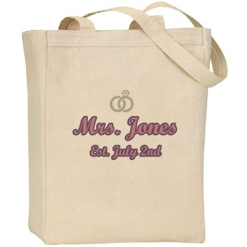 Mrs. Tote Bag Liberty Bags Canvas Tote