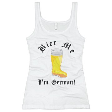 Kiss Me I'm German Junior Fit Basic Bella Favorite Tee