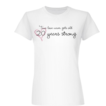 20th Anniversary Junior Fit Basic Bella Favorite Tee