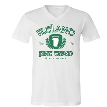 Ireland Pint Team Unisex Canvas V-Neck Jersey Tee