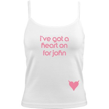 Heart On For John Junior Fit Bella Sheer Longer Length Rib Tank Top