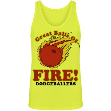 Great Balls of Fire Junior Fit Bella 1x1 Rib Ringer Tee