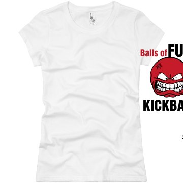 Balls of Fury kickball Junior Fit Basic Bella Favorite Tee